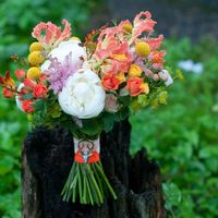 экзотический букет невесты оранжевый