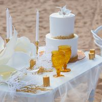 утро невесты белая свадьба торт