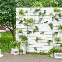 фотозона белая стена с зеленью