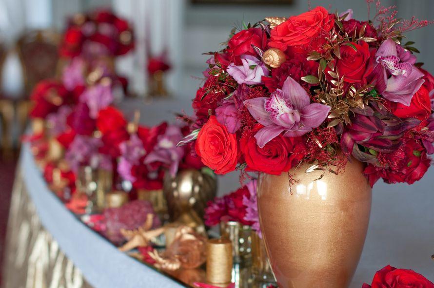 """оформление стола молодых цветами - фото 15795548 Студия флористики и декора """"Глориоза"""""""