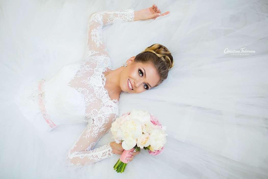 """бело-розовый букет невесты с пионами - фото 16311558 Студия флористики и декора """"Глориоза"""""""