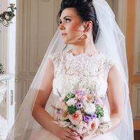 розово-сиреневый букет невесты