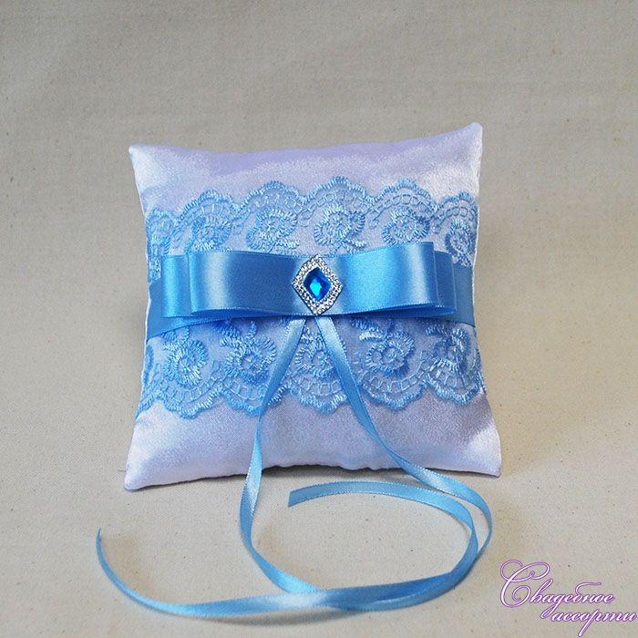 Подушечка для колец своими руками синий цвет