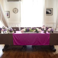 Цветная перекидка на столе гостей