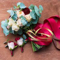 букет, букет невесты, букет из роз, флористика, оформление свадьбы, бутоньерка