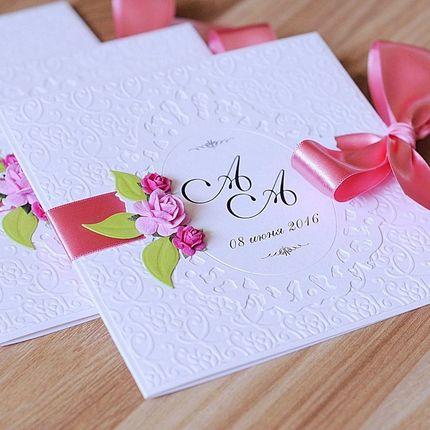 """Приглашение на свадьбу """"Розовая нежность"""""""