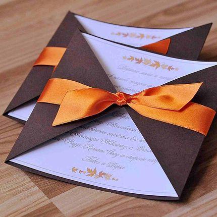 Приглашение в цвете айвори
