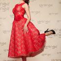 """Красное платье в стиле """"ретро"""""""