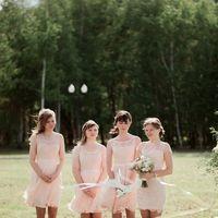 Подружки невесты в розовом