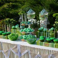 """""""Candy bar"""" в зеленой гамме уголок невесты"""