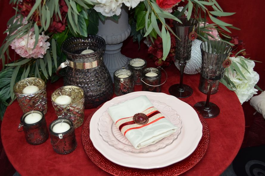 "Оформление салфетки цвета ""Марсала"" - фото 4390613 Premiumflor - декор и флористика"
