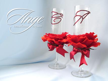 Как сделать розу на бокал - Bonbouton.ru