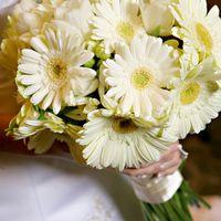 Букет невесты из белых гербер
