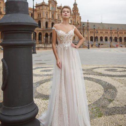 Свадебное платье со шлейфом  А1279
