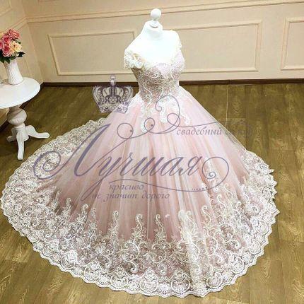 Платье со шлейфом А1309 прокат