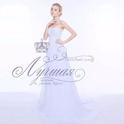 Свадебное платье для беременной А1328