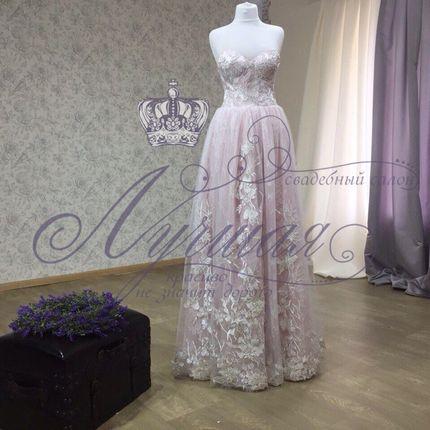 Платье цвета пудра А1333 прокат
