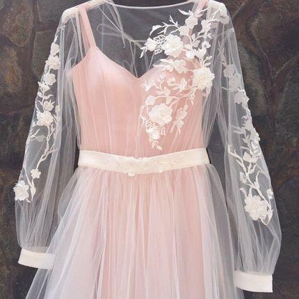 Платье цвета пудра А1345 прокат