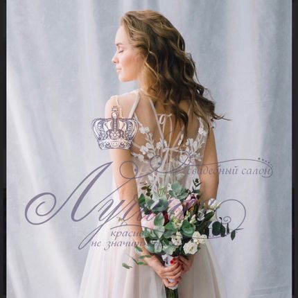 Свадебное платье в стиле бохо А1376