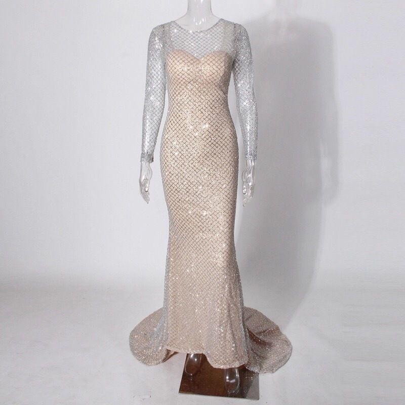 Вечернее платье со шлейфом А1462