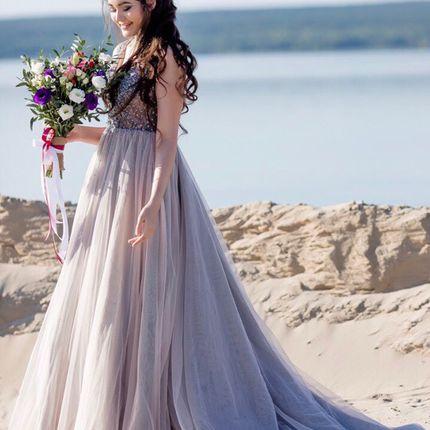 Цветное платье А1515