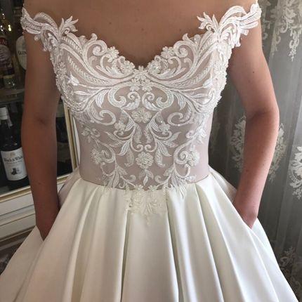 Платье со шлейфом прокат А1528