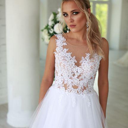 Прокат свадебного пышного платья А1564