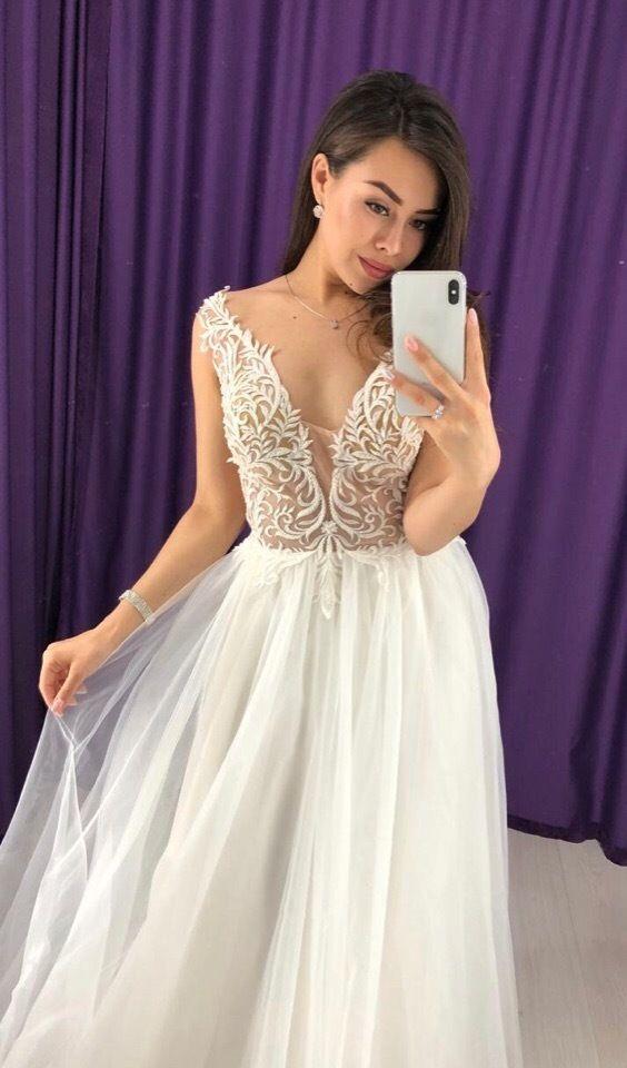 Свадебное платье со шлейфом, прокат А1614