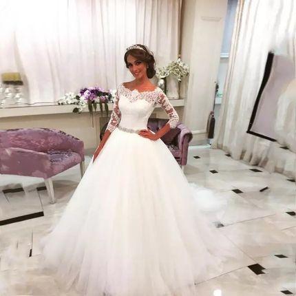 Платье со шлейфом А1627 прокат