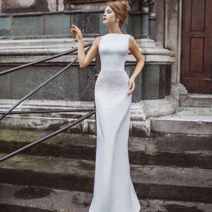 Атласное платье А1633 прокат
