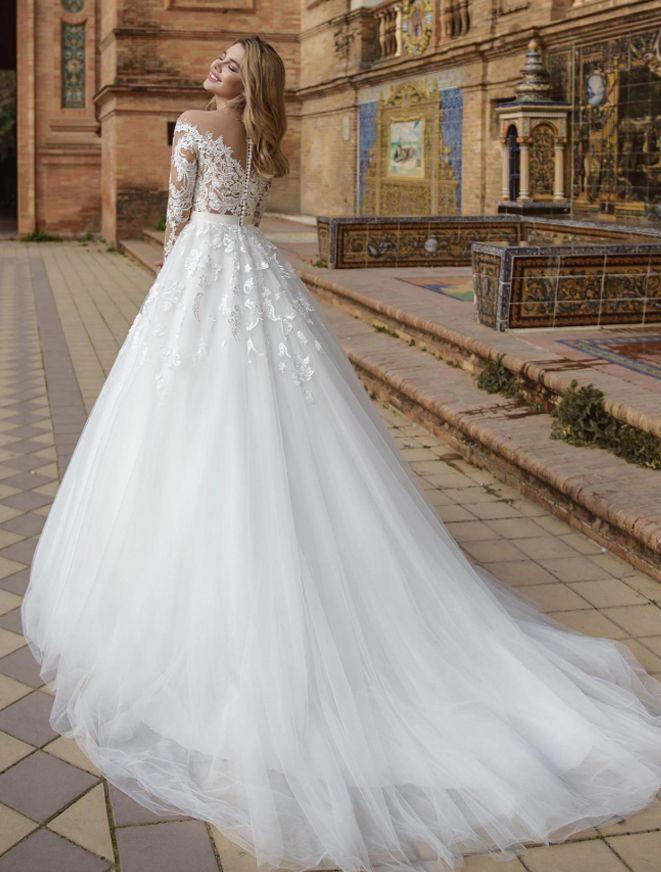 Платье со шлейфом А1757