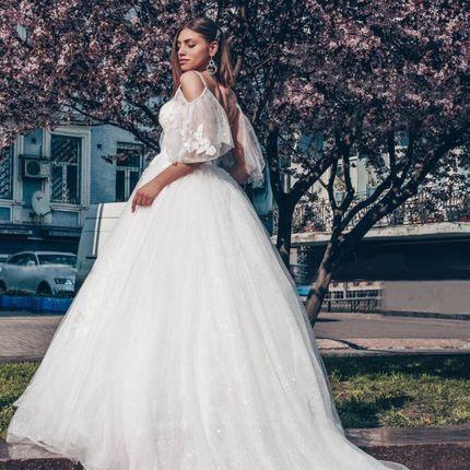 Платье с рукавами А1789 прокат