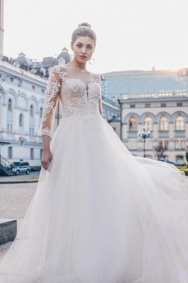 Платье с рукавами А1800