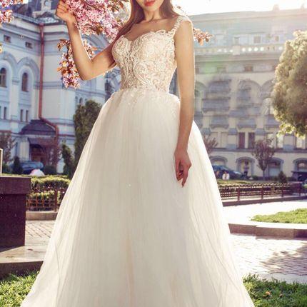 Платье с кружевом А1814