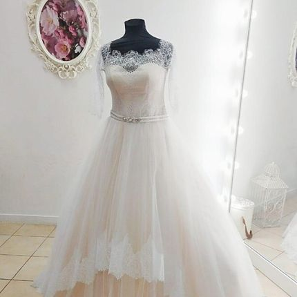 Платье со шлейфом А1831