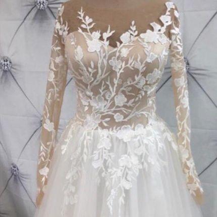 Платье с рукавами А1858