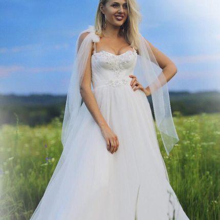 Платье на бретелях А1863