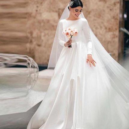 Платье атласное А1867