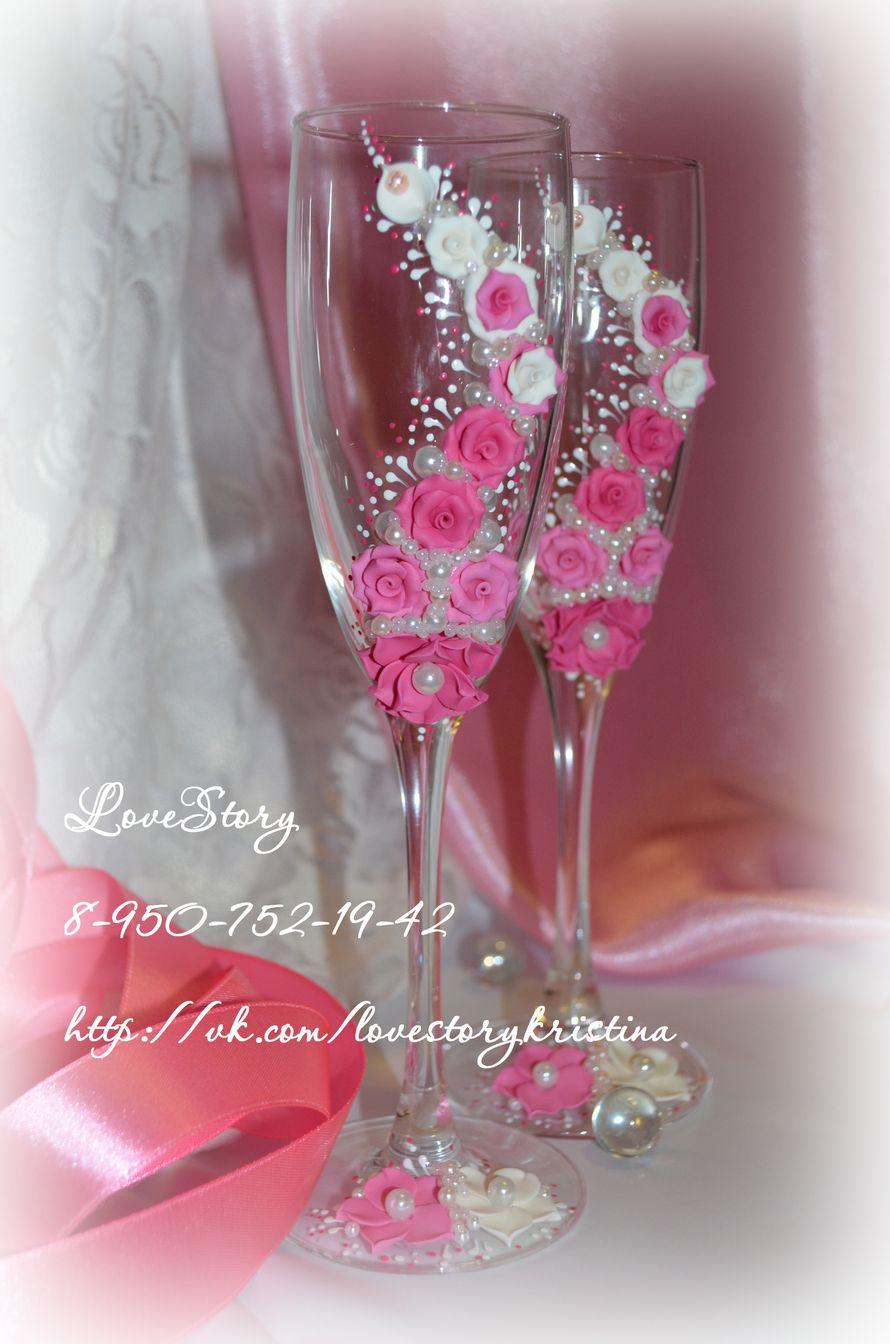 """Бокалы из коллекции """"Аромат"""" в розовом цвете - фото 4422789 Студия аксессуаров Кристины Тишковой"""