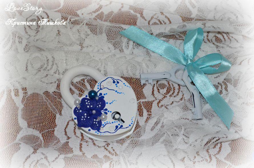 """Замочек из набора """"Пленительная орхидея"""" в синем цвете - фото 4423375 Студия аксессуаров Кристины Тишковой"""
