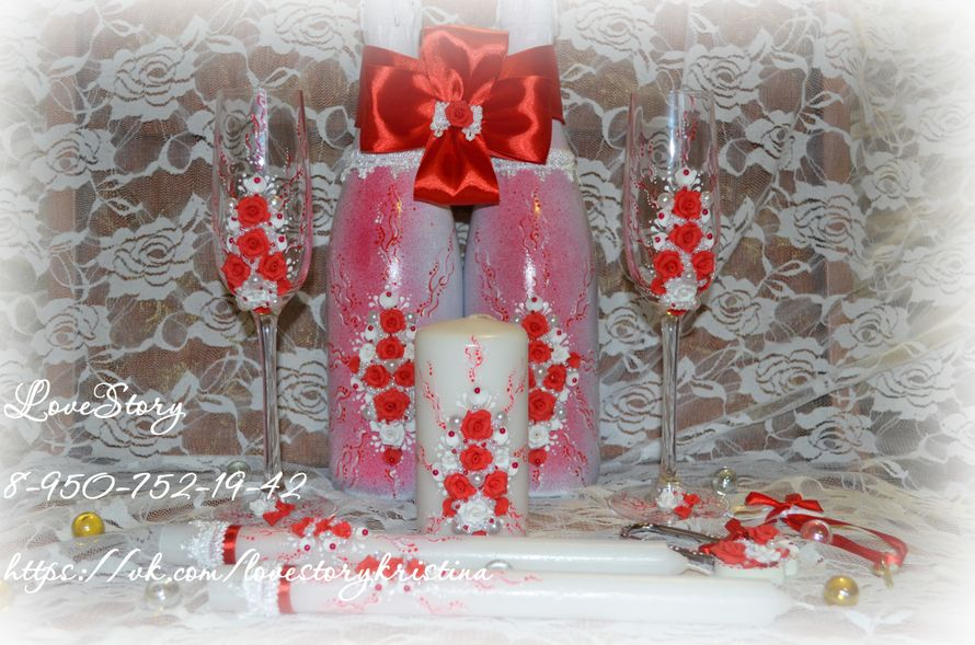 """Набор свадебных аксессуаров """"Роза"""" - фото 4425663 Студия аксессуаров Кристины Тишковой"""