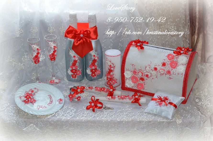 """Свадебные аксессуары """"Аромат"""" в красном цвете - фото 4425675 Студия аксессуаров Кристины Тишковой"""