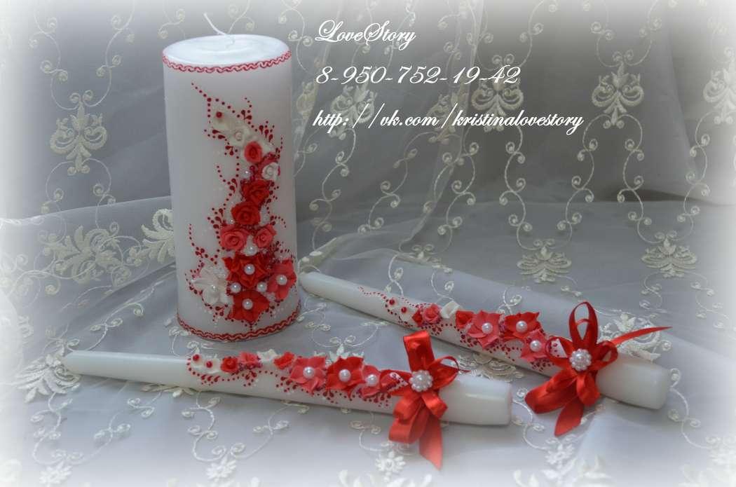 """Свечи """"Аромат"""" в красном цвете - фото 4425697 Студия аксессуаров Кристины Тишковой"""