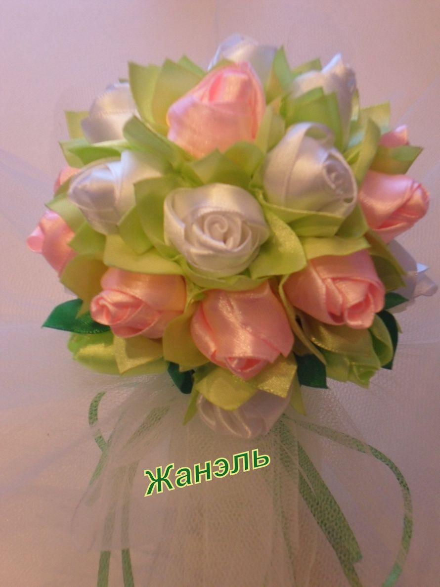 свадебный букет из атласных лент - фото 3891785 Жанэль - студия свадебного декора и услуг