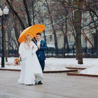 зимняя свадьба, свадьба зимой, оранжевый, прогулка