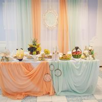 """Свадьба в стиле """"Шебби-шик"""",оформление свадьбы в мятно-персиковых тонах,Тамбов"""