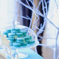 сладкий стол, макаронс, бирюзовая свадьба