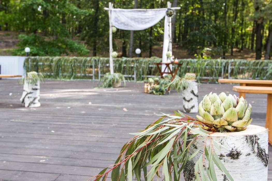 Выездная церемония росписи в стиле rustik - фото 3311573 DIAMANTE-deco студия свадебного дизайна