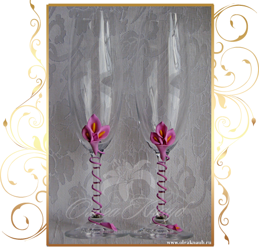 Фото 809979 в коллекции Свадебные бокалы, шампанское, подушечки для колец - Кнауб Ольга - Свадебные аксессуары
