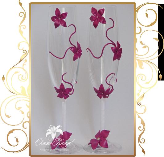 Фото 810003 в коллекции Свадебные бокалы, шампанское, подушечки для колец - Кнауб Ольга - Свадебные аксессуары